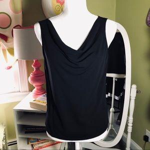 DKNY Sleeveless Drape Neck Top
